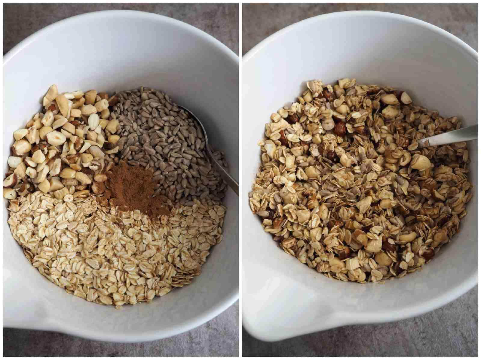 Zutaten selbstgemachtes Knuspermüsli