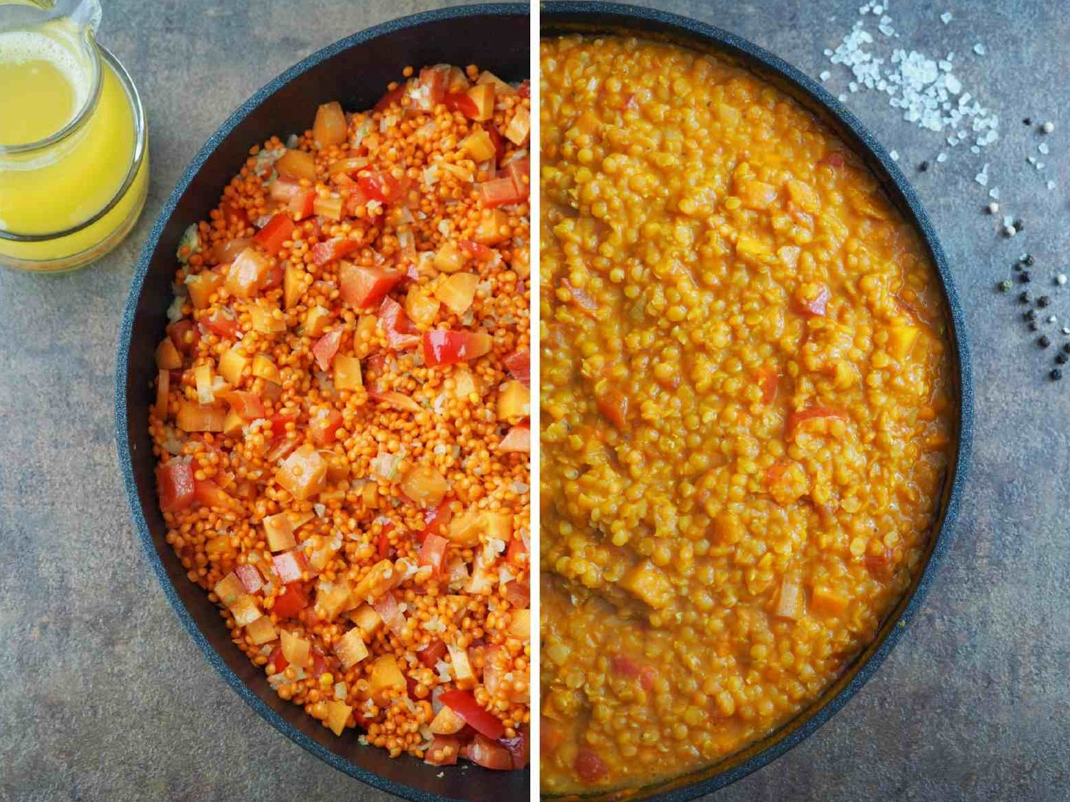 Zubereitungsschritte Veganes Rote Linsen-Kokos-Dal