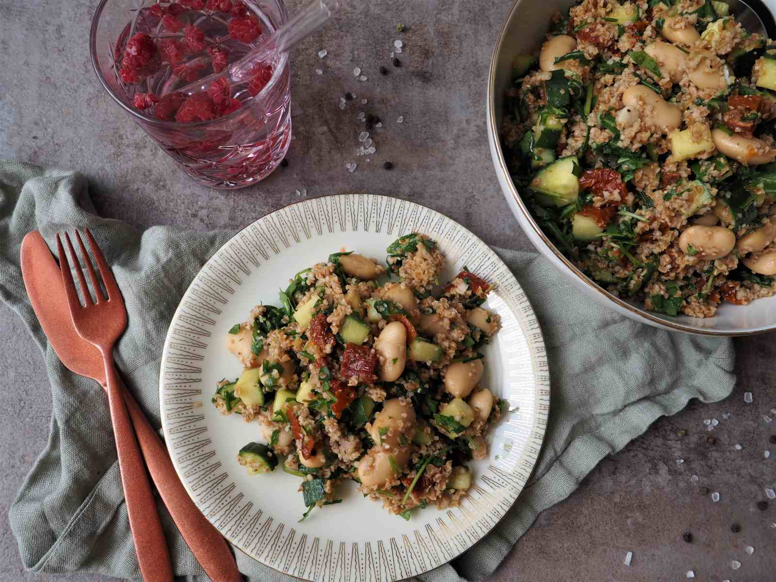 Schneller Bulgursalat ohne Kochen
