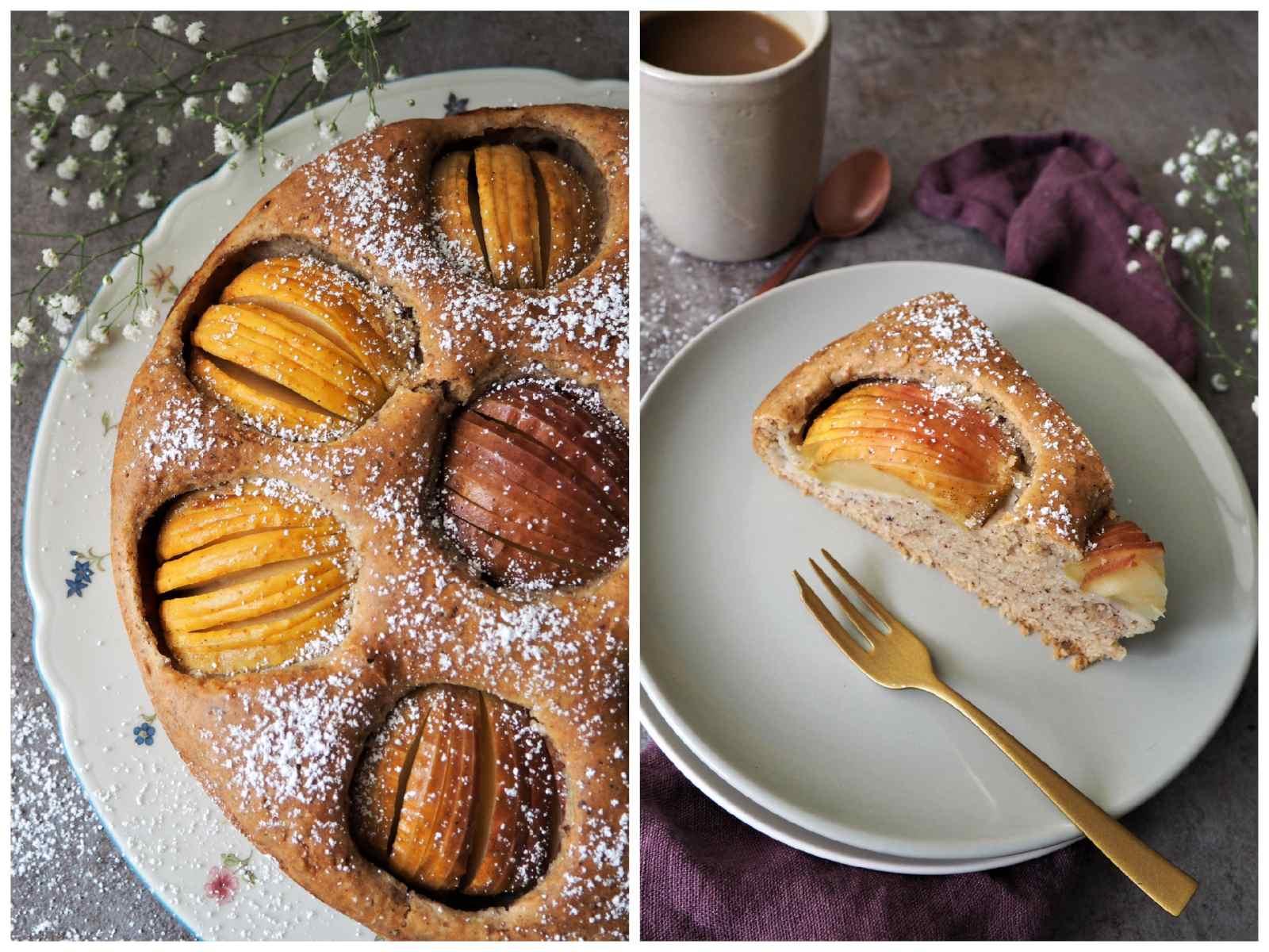 Veganer Versunkener Apfelkuchen Fotos im Detail