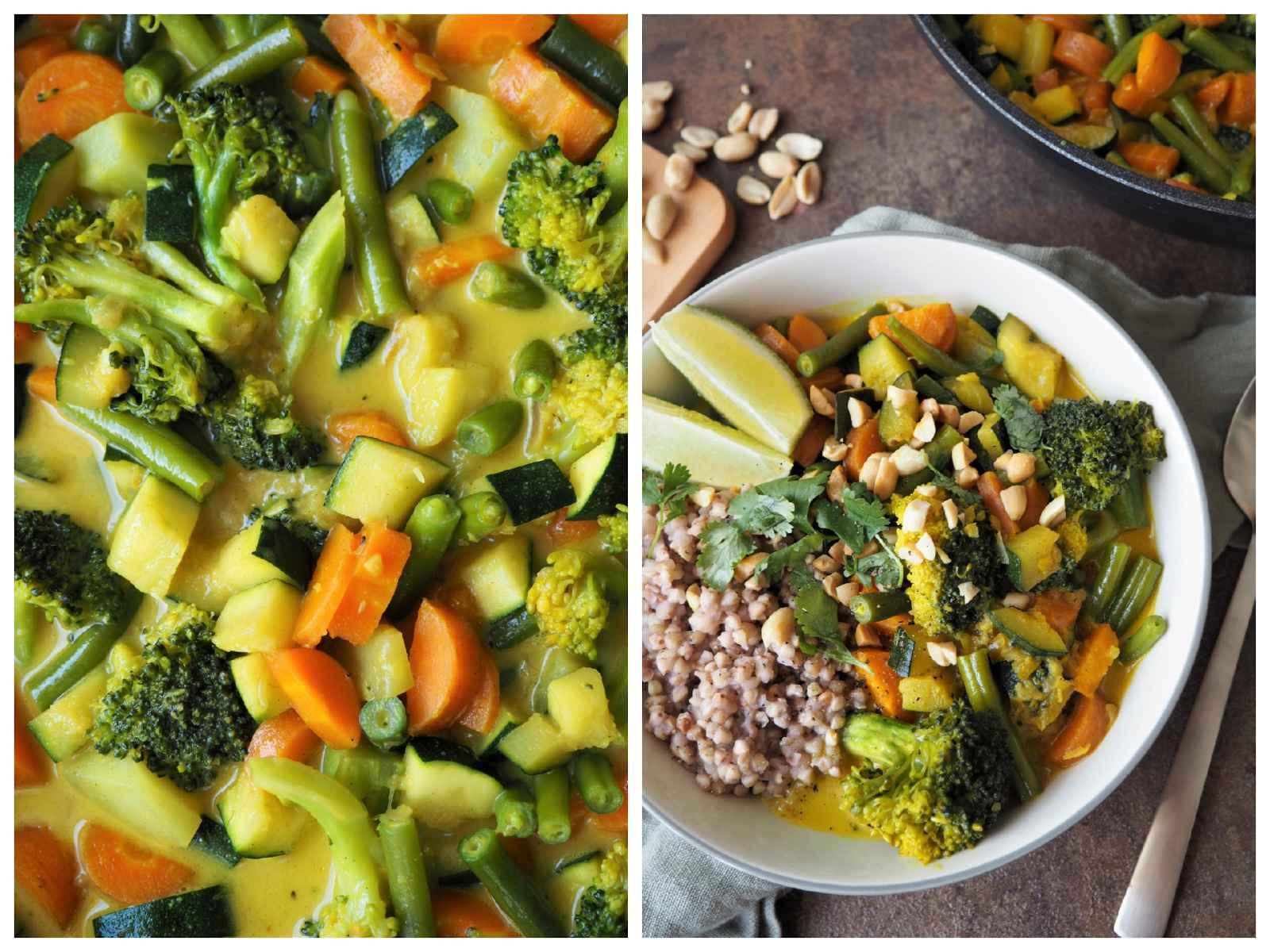 Buntes Gemüse-Curry mit Buchweizen Details