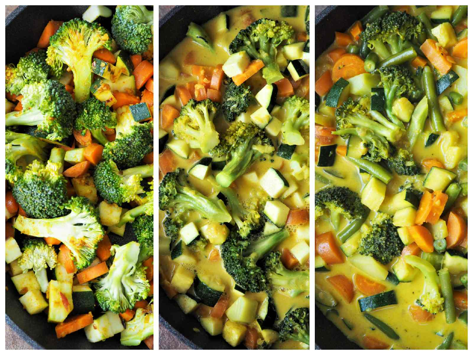 Buntes Gemüse-Curry mit Buchweizen Zubereitungsschritte