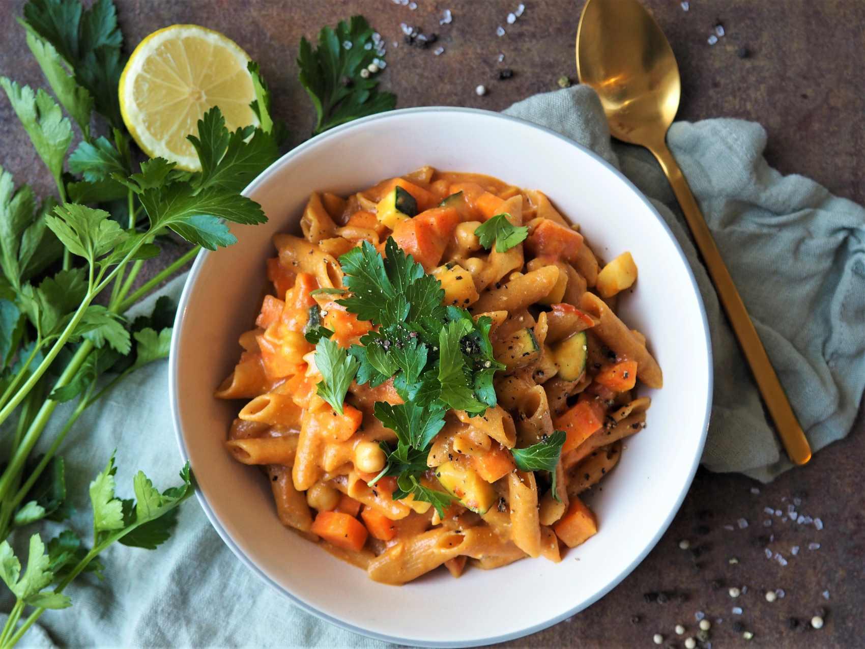 Cremige vegane One Pot Pasta