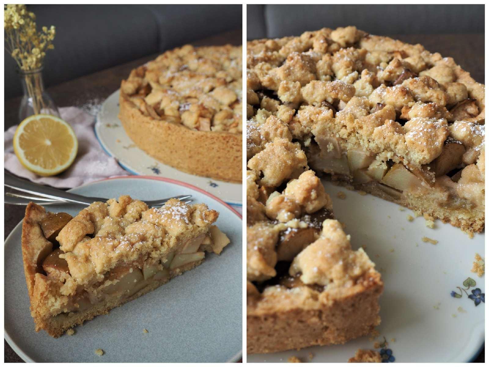 Veganer Apfel-Streusel-Kuchen im Detail