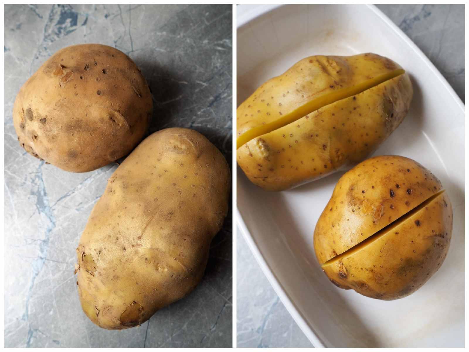 Vegane Kumpir mit Couscous-Salat und Dip Kartoffeln