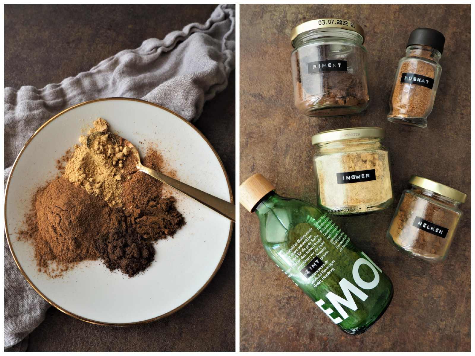 Veganes Pumpkin Pie Spice Knuspermüsli - Alle Gewürze für Pumkin Pice Spice
