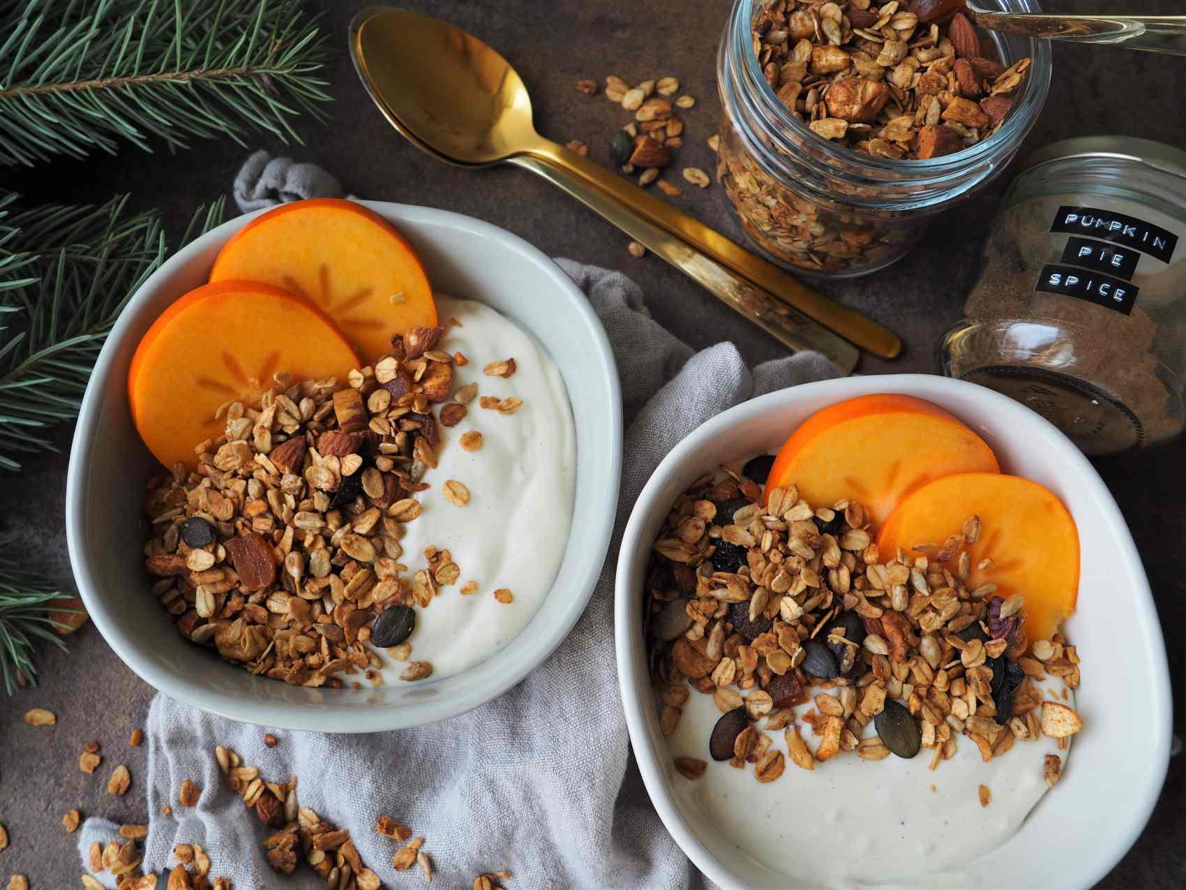 Veganes Pumpkin Pie Spice Knuspermüsli
