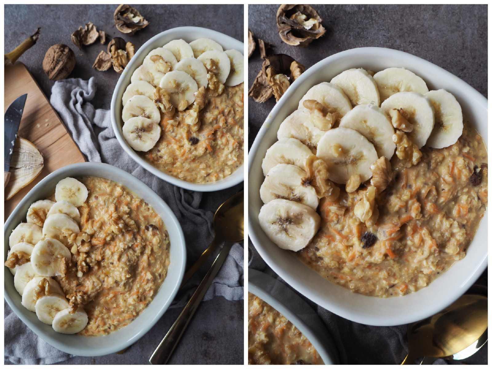Veganes Apfel-Möhren-Porridge mit Ingwer Details